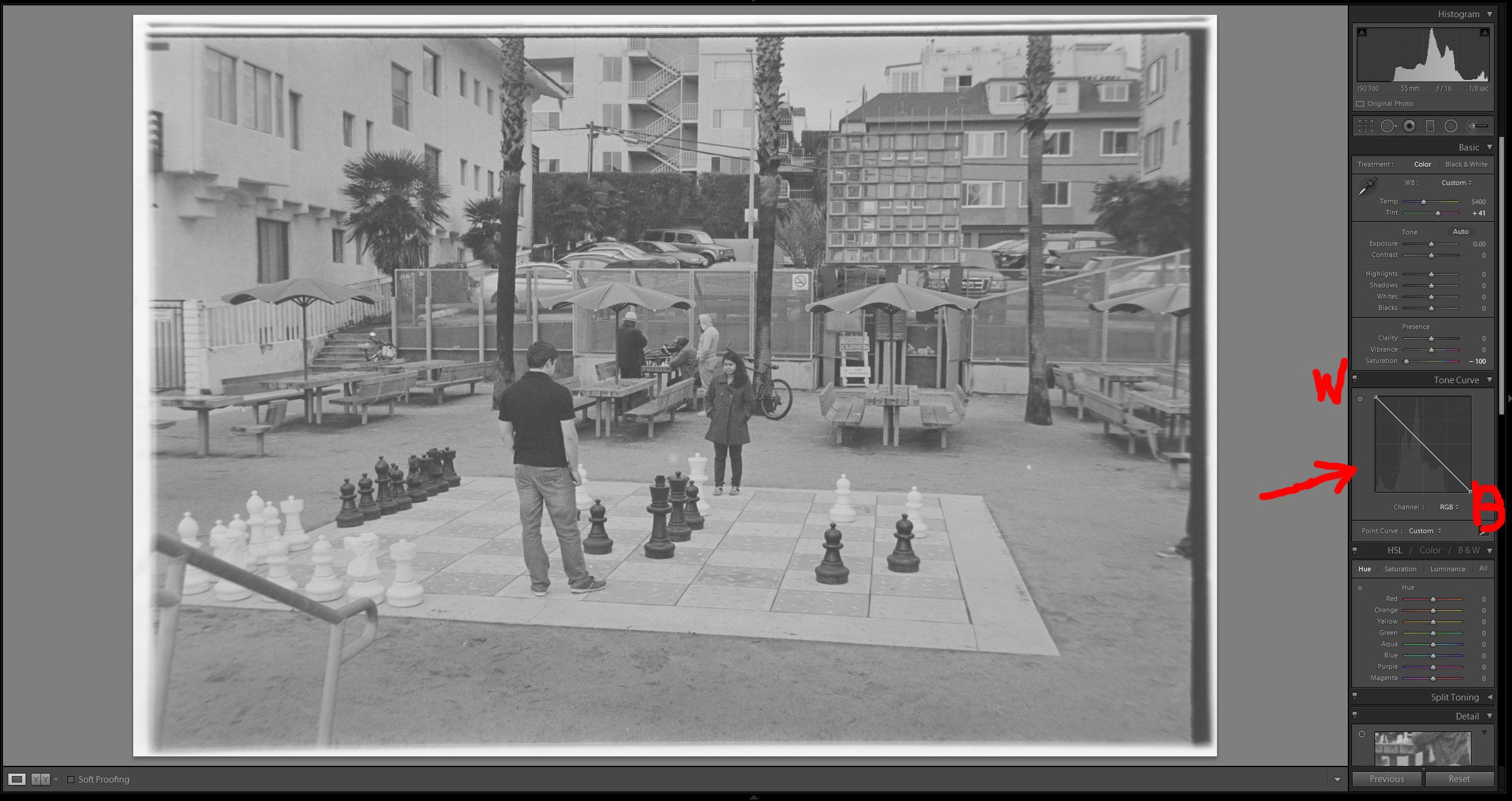 Processing scanned/DSLR photos of film negatives in Lightroom | Bart